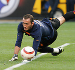29 July 2004: Roma goalkeeper Carlo Zotti during warmups. Chelsea of the English Premier League defeated AS Roma of La Liga at Heinz Field in Pittsburgh, PA in a ChampionsWorld Series friendly match..