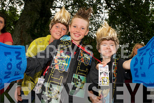 Pictured queuing for Jedward on Friday were, left to right: Tristan Kirwan, Dale Houlihan and Patrick O'Brien (all from Tralee).