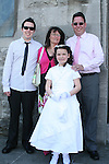 Caitlin Deegan and family at the Fatima Communion in St. Marys Church...Photo NEWSFILE/Jenny Matthews.(Photo credit should read Jenny Matthews/NEWSFILE)....This Picture has been sent you under the condtions enclosed by:.Newsfile Ltd..The Studio,.Millmount Abbey,.Drogheda,.Co Meath..Ireland..Tel: +353(0)41-9871240.Fax: +353(0)41-9871260.GSM: +353(0)86-2500958.email: pictures@newsfile.ie.www.newsfile.ie.FTP: 193.120.102.198.