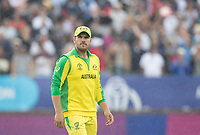 Aaron Finch (Australia) ponders what might have been during Australia vs England, ICC World Cup Semi-Final Cricket at Edgbaston Stadium on 11th July 2019