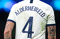 Toby Alderweireld of Spurs back of shirt during the UEFA Champions League group match between Tottenham Hotspur and Bayern Munich at Wembley Stadium, London, England on 1 October 2019. Photo by Andy Rowland.