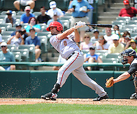 Harrisburg Senators infielder Sean Nicol (8) during game against the Trenton Thunder at ARM & HAMMER Park on July 31, 2013 in Trenton, NJ.  Harrisburg defeated Trenton 5-3.  (Tomasso DeRosa/Four Seam Images)