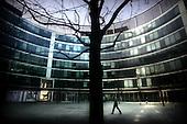 Warsaw 05.04.2008 Poland<br /> Man walking through new building in Warsaw<br /> (Photo by Adam Lach / Napo Images for Newsweek Polska)<br /> <br /> Jeden z nowoczesnych, warszawskich budynk&oacute;w.<br /> (Fot Adam Lach / Napo Images dla Newsweek Polska)