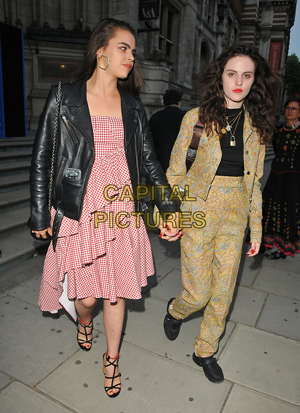Bee Beardsworth and Daisy Maybe at the Frida Kahlo: Making Her Self Up exhibition VIP private view, Victoria and Albert Museum, Cromwell Road, London, England, UK, on Wednesday 13 June 2018.<br /> CAP/CAN<br /> &copy;CAN/Capital Pictures