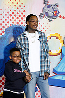 "LOS ANGELES - FEB 12:  Wiz Khalifa, son Sebastian at the ""Sonic The Hedgehog"" Special Screening at the Village Theater on February 12, 2020 in Westwood, CA"