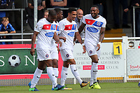 Corey Whitely of Dagenham is congratulated after scoring the opening goal during Eastleigh vs Dagenham & Redbridge, Vanarama National League Football at the Silverlake Stadium on 12th August 2017