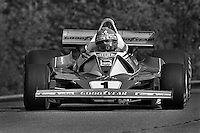 BOWMANVILLE, ONTARIO - OCTOBER 3: Niki Lauda of Austria drives his Ferrari 312T2 026/Ferrari 015 during the Canadian Grand Prix FIA Formula 1 race at Mosport Park near Bowmanville, Ontario, on October 3, 1976.