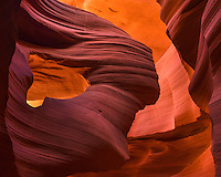 "Iconic outline of the ""lady"" in Arizona's Lower Antelope Canyon."