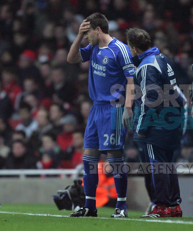 Chelsea's John Terry goes off injured
