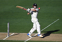 Henry Nicholls batting.<br /> New Zealand Blackcaps v England. 1st day/night test match. Eden Park, Auckland, New Zealand. Day 4, Sunday 25 March 2018. &copy; Copyright Photo: Andrew Cornaga / www.Photosport.nz