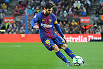 League Santander 2017/2018. Game: 28.<br /> FC Barcelona vs At. Madrid: 1-0.<br /> Lionel Messi.
