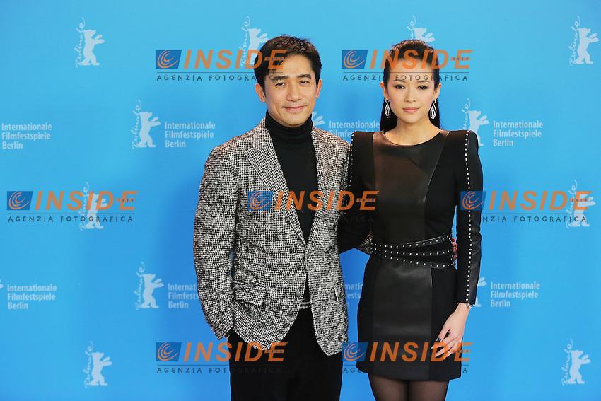 Tony Leung Chiu Wai and Zhang Ziyi.Berlin 07/02/2013 63th Berlinale.'The Grandmaster' photocall .foto Mark Cape/Insidefoto