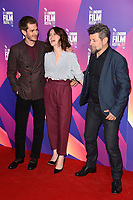 Andrew Garfield, Claire Foy &amp; Andy Serkis at the photocall for &quot;Breathe&quot;, part of the BFI London Film Festival, at the Mayfair Hotel, London, UK. <br /> 04 October  2017<br /> Picture: Steve Vas/Featureflash/SilverHub 0208 004 5359 sales@silverhubmedia.com