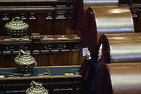 Roma, 20 Aprile 2013.Camera dei Deputati.Votazione del Presidente della Repubblica a camere riunite..Silvio Berlusconi al voto