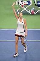 FLUSHING NY- SEPTEMBER 08: Serena Williams Vs Karolina Pliskova on Arthur Ashe Stadium at the USTA Billie Jean King National Tennis Center on September 8, 2016 in Flushing Queens. Credit: mpi04/MediaPunch