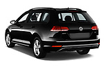 Car pictures of rear three quarter view of 2018 Volkswagen Golf-Variant Comfortline 5 Door Wagon Angular Rear