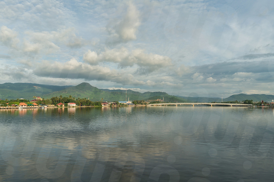 September 20, 2016 - Kampot (Cambodia). View of the river passing through Kampot town. © Thomas Cristofoletti / Ruom
