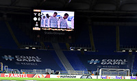 The Empty stands of Lazio Ultras fans. This sector was closed for fascist gestures of some Lazio fans during the past match of Europa League. <br /> Roma 7-11-2019 Stadio Olimpico <br /> Football Europa League 2019/2020 <br /> SS Lazio - Celtic <br /> Photo Andrea Staccioli / Insidefoto
