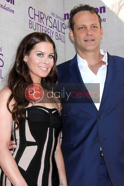 Kyla Weber, Vince Vaughn at the 14th Annual Chrysalis Butterfly Ball, Private Residence, Los Angeles, CA 06-06-15<br /> David Edwards/DailyCeleb.com 818-249-4998