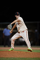 Casey Daiss during the WWBA World Championship at the Roger Dean Complex on October 19, 2018 in Jupiter, Florida.  Casey Daiss is a right handed pitcher from Clermont, Florida who attends TNXL Academy.  (Mike Janes/Four Seam Images)