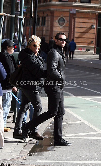 WWW.ACEPIXS.COM ************....March 5 2010, New York City....Actor Hugh Jackman and his wife Deborra-Lee Furness walking around the Noho distric of Manhattan on March 5 2010 in New York City....Please byline: PHILIP VAUGHAN - ACEPIXS.COM.. *** ***  ..Ace Pictures, Inc:  ..tel: (646) 769 0430..e-mail: info@acepixs.com..web: http://www.acepixs.com