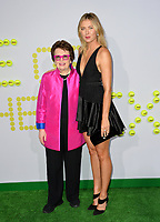 Billie Jean King &amp; Maria Sharapova at the premiere for &quot;Battle of the Sexes&quot; at the Regency Village Theatre, Westwood, Los Angeles, USA 16 September  2017<br /> Picture: Paul Smith/Featureflash/SilverHub 0208 004 5359 sales@silverhubmedia.com