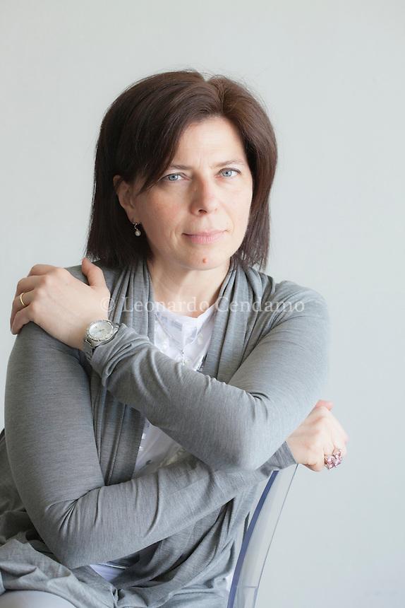 Raffaella Romagnolo, scrittrice italiana, Torino, maggio 2012. © Leonardo Cendamo