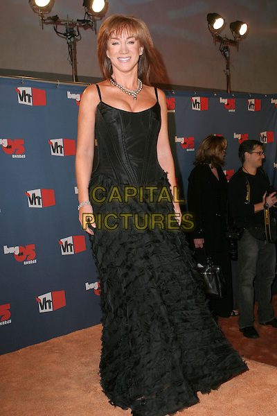 "KATHY GRIFFIN.""VH1 Big In '05 Awards"" - Arrivals held at Sony Studios, Culver City, California..December 3rd, 2005.Photo: Zach Lipp/AdMedia/Capital Pictures.Ref: ZL/ADM.full length black dress ruffles.www.capitalpictures.com.sales@capitalpictures.com.© Capital Pictures."
