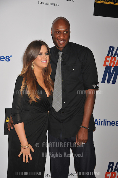 Actress Chloe Kardashian and NBA player Lamar Odom arrive at the 19th Annual Race to Erase MS held at the Hyatt Regency Century Plaza Hotel in Century City.