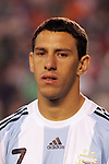 June 04 2008:  Maximiliano Rodriguez (Atletico Madrid / SPA) (7) of Argentina.  During Mexico's 2008 USA Tour in preparation for qualification for FIFA's 2010 World Cup, the national soccer team of Mexico was defeated by Argentina 1-4 at Qualcomm Stadium, in San Diego, CA.