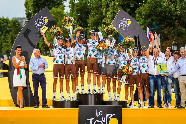 AG2R La Mondiale, Tour de France, Stage 21: Évry > Paris Champs-Élysées, UCI WorldTour, 2.UWT, Paris Champs-Élysées, France, 27th July 2014, Photo by Thomas van Bracht