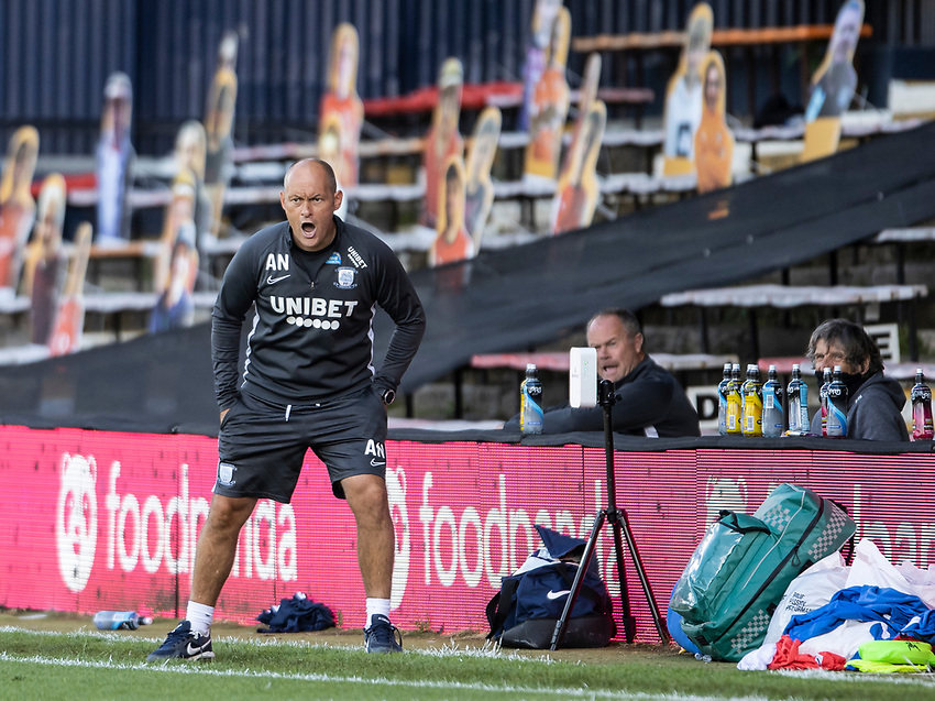 Preston North End's manager Alex Neil reacts to play<br /> <br /> Photographer Andrew Kearns/CameraSport<br /> <br /> The EFL Sky Bet Championship - Luton Town v Preston North End - Saturday 20th June 2020 - Kenilworth Road - Luton<br /> <br /> World Copyright © 2020 CameraSport. All rights reserved. 43 Linden Ave. Countesthorpe. Leicester. England. LE8 5PG - Tel: +44 (0) 116 277 4147 - admin@camerasport.com - www.camerasport.com