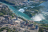 Horseshoe and American Falls, aerial east view