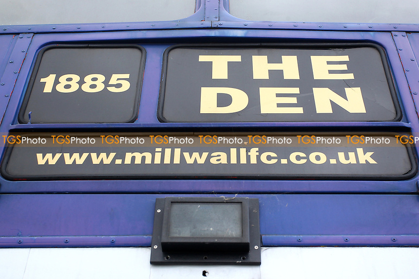 Detail view of the Millwall FC blue bus during Millwall Lionesses vs Sheffield FC Ladies, FA Women's Super League FA WSL2 Football at The Den on 9th October 2016