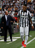 Calcio, Serie A: Juventus vs Napoli. Torino, Juventus Stadium, 23 maggio 2015. <br /> Napoli's coach Rafael Benitez, left, gives indications to his players during the Italian Serie A football match between Juventus and Napoli at Turin's Juventus Stadium, 23 May 2015.<br /> UPDATE IMAGES PRESS/Isabella Bonotto