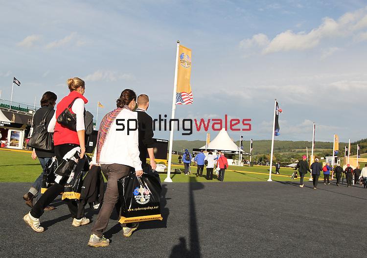 Ryder Cup 2010.Jonathan Jones and Ian Woosnam.29.09.10.©Steve Pope