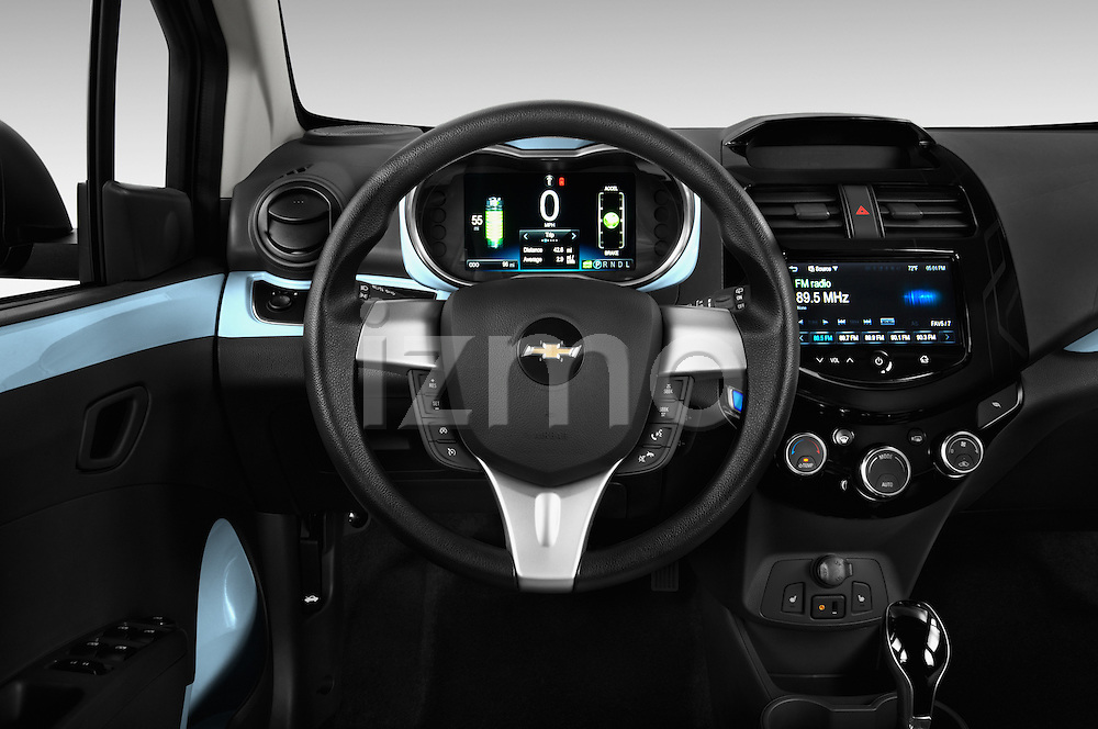 Steering wheel view of a  2014 Chevrolet Spark EV
