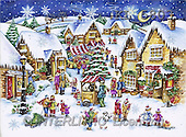 Interlitho, Theresa, CHRISTMAS LANDSCAPE, paintings, market, lantern(KL5803,#XL#)