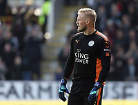 Leicester City's Kasper Schmeichel<br /> <br /> Photographer Rich Linley/CameraSport<br /> <br /> The Premier League - Burnley v Leicester City - Saturday 14th April 2018 - Turf Moor - Burnley<br /> <br /> World Copyright &copy; 2018 CameraSport. All rights reserved. 43 Linden Ave. Countesthorpe. Leicester. England. LE8 5PG - Tel: +44 (0) 116 277 4147 - admin@camerasport.com - www.camerasport.com