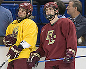 Stephen Gionta and Chris Collins - The Boston College Eagles practiced on Wednesday, April 5, 2006, at the Bradley Center in Milwaukee, Wisconsin, in preparation for their 2006 Frozen Four Semi-Final game against the University of North Dakota.