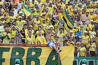 BUCARAMANGA-COLOMBIA-10-09-2016. Atlético Bucaramanga y Atlético Nacional en partido por la fecha 11 de la Liga Águila II 2016 jugado en el estadio Alfonso López de la ciudad de Bucaramanga./ Atletico Bucaramanga and Atletico Nacional in match for the date 11 of the Aguila League II 2016 played at Alfonso Lopez stadium in Bucaramanga city. Photo: VizzorImage / Duncan Bustamante / Cont