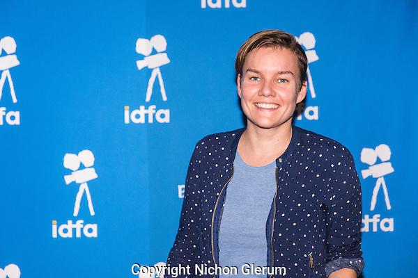 Amsterdam, november 2016, IDFA International Documentary Filmfestival Amsterdam. Premierewand IDFA in de Brakke Grond met: Leonieke Verhoog. Photo Nichon Glerum