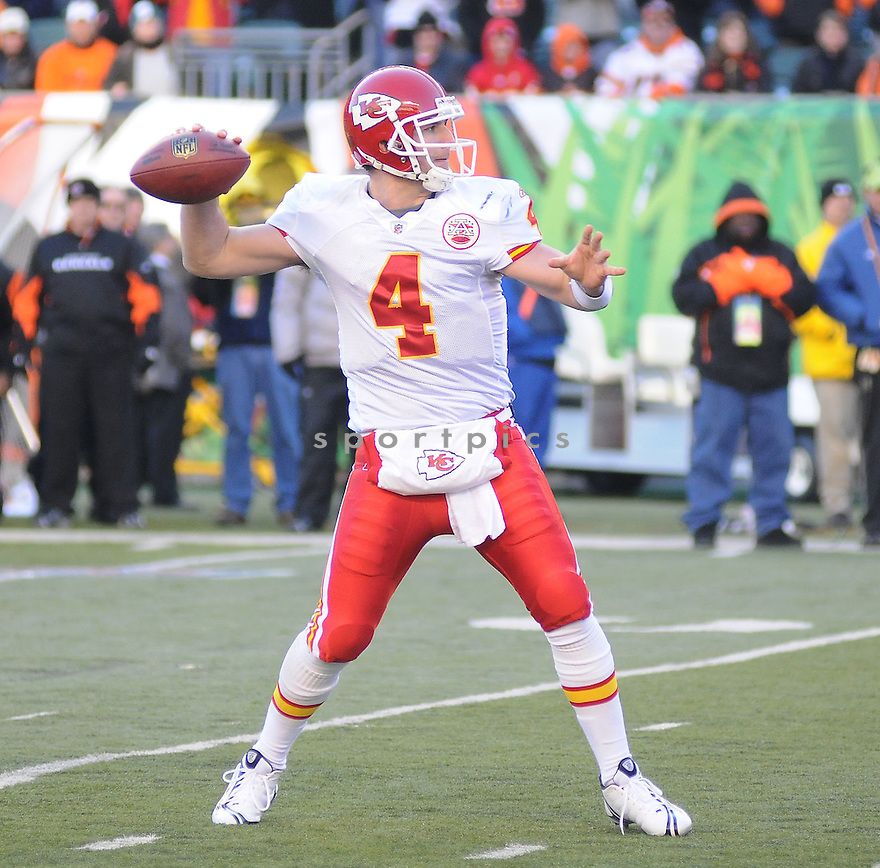 TYLER THIGPEN, of the Kansas CIty Chiefs , in action  during the Chiefs  game against the Cincinnati Bengals on December 29, 2008 in Cincinnati, OH...Bengals win 16-6