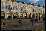 Italy, Turin. <br /> Everyday life along Via Roam. Yes, the Romans used to hang-out here.