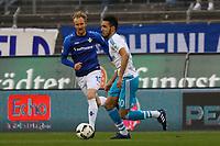 Nabil Bentaleb (FC Schalke 04)gegen Jan Rosenthal (SV Darmstadt 98) - 16.04.2017: SV Darmstadt 98 vs. FC Schalke 04, Johnny Heimes Stadion am Boellenfalltor