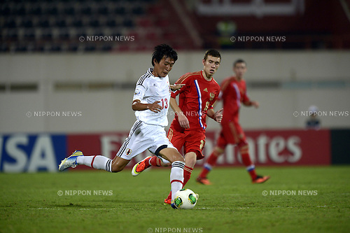 Kento Misao (JPN), OCTOBER 18, 2013 - Football / Soccer : FIFA U-17 World Cup 2013 Group D match between Russia 0-1 Japan at Sharjah Stadium in Sharjah, United Arab Emirates. (Photo by FAR EAST PRESS/AFLO)