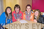 Deirdre Horan, Kieran Enright, Claudia Greaney and Niamh Hayes Listowel exercising their brain matter in the Quiz at the KDYS County Games day in Killarney on Sunday