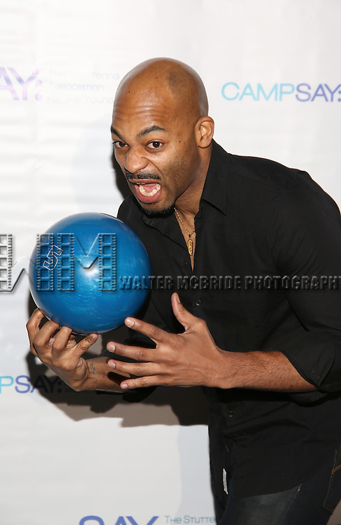 Brandon Victor Dixon attends the 5th Annual Paul Rudd All-Star Bowling Benefit for (SAY) at Lucky Strike Lanes on February 13, 2017 in New York City.
