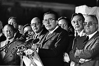 - Giulio Andreotti (DC), festa dell'Amicizia a Udine, 1977....- Giulio Andreotti (DC, Christian Democratic Party), Fest of the Friendship in Udine, 1977