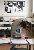 Graphic Design studio, Open Day at Kingston College when prospective students and their parents look around.